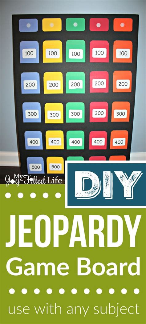 diy game diy jeopardy game board pepperoni my children and my family
