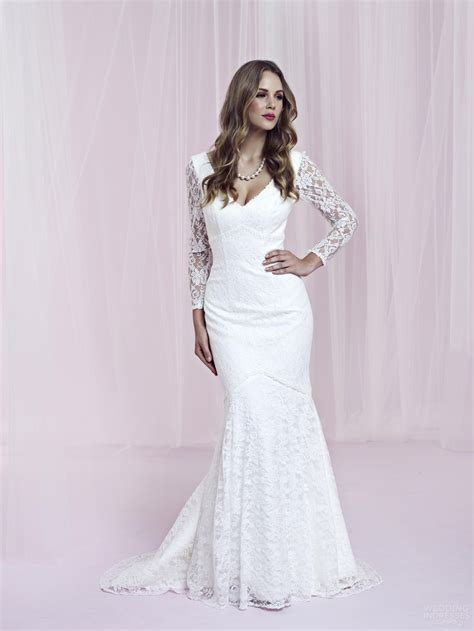 Newest timeless long sleeve lace wedding dress 2012 view wedding dress