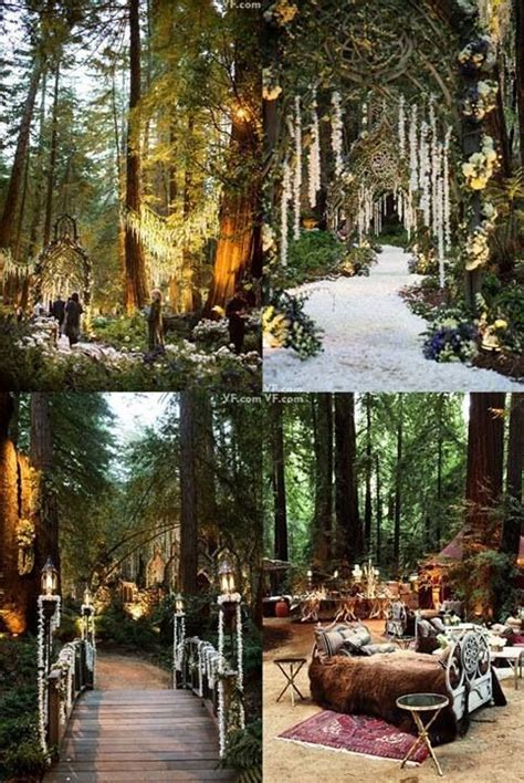 Forest Wedding Decor by Inspired By Forest Fairytale Weddings Wedding