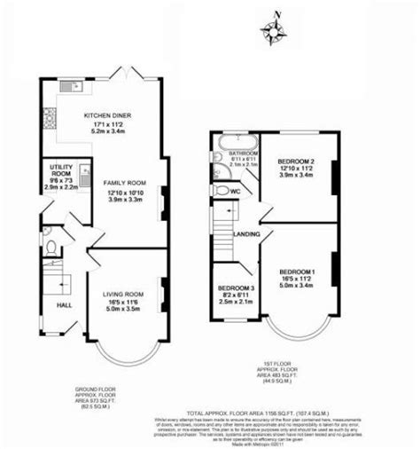 Kitchen Extension Floor Plans | 3 bed house floor plan rear extension google search