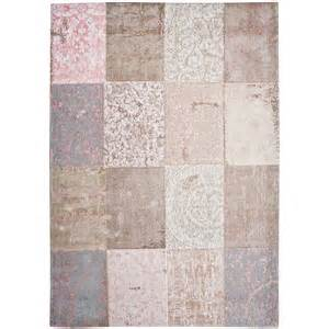 bolshoi wool and cotton cheille rug pink and grey rugs