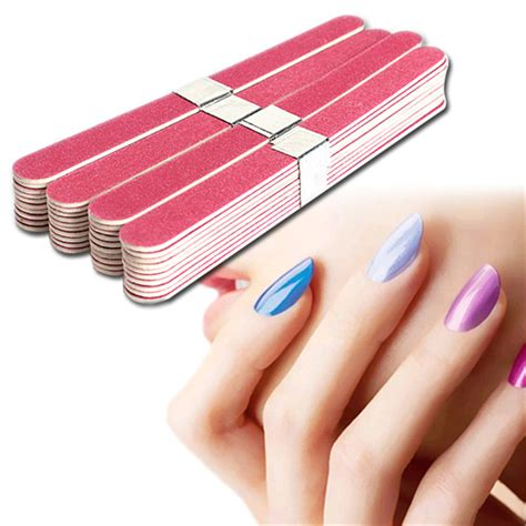 Manicure Pedicure Di Nail Plus 40pcs nail file manicure pedicure buffer sanding files wood crescent sandpaper grit nail