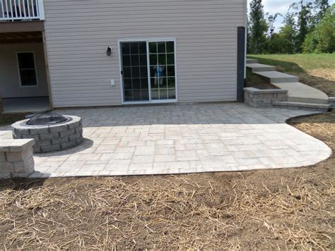 building a patio pit how to build a paver patio on a sloped yard home design