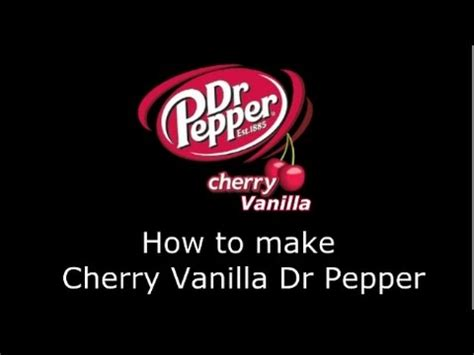 how to make cherry vanilla dr pepper at home