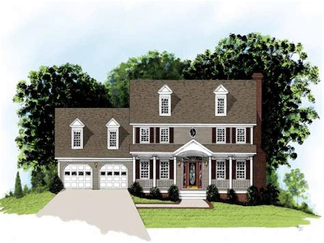 federal style home plans eplans adam federal house plan simple