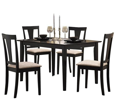 vecelo dining table with 4 chairs black 20 best dining room ideas images on color