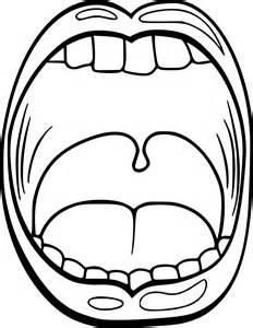coloriage bouche langue 224 imprimer sur coloriages
