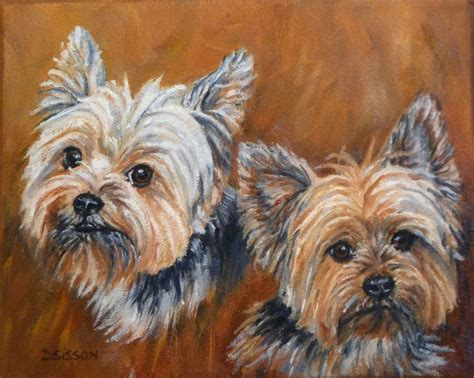 pet yorkie portraits paintings drawings commissioned breeds picture