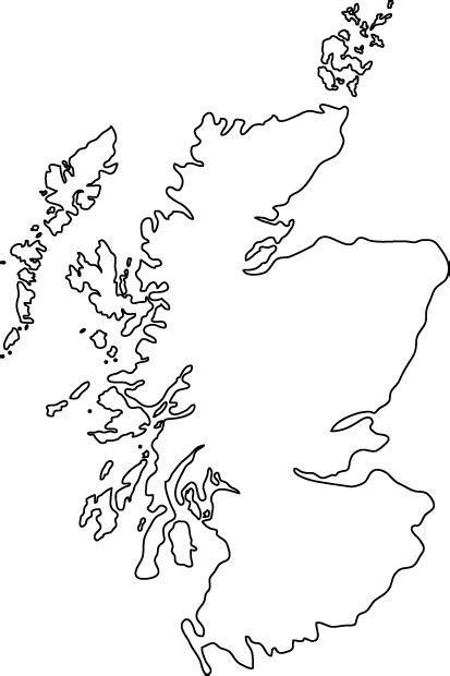 Scottish Outline by Scotland Outline Map