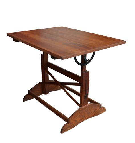 Large Drafting Table Large Stained Drafting Table C1920s Rejuvenation