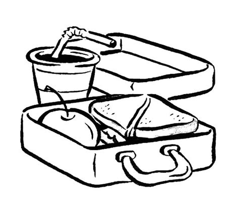 delicious food in lunchbox coloring pages download