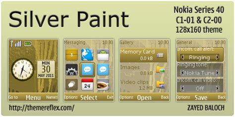 themes clock c1 silver paint theme for nokia c1 01 c2 00 themereflex