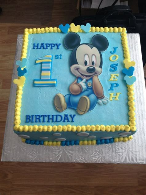 blue mickey mouse  birthday cake google search
