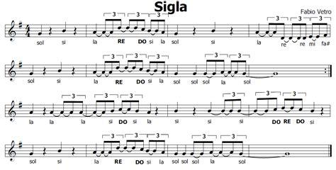 testo sigla note musica e spartiti gratis per flauto dolce sigla