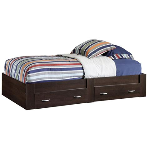 wood twin platform bed sauder beginnings twin wood platform bed 415465 the home