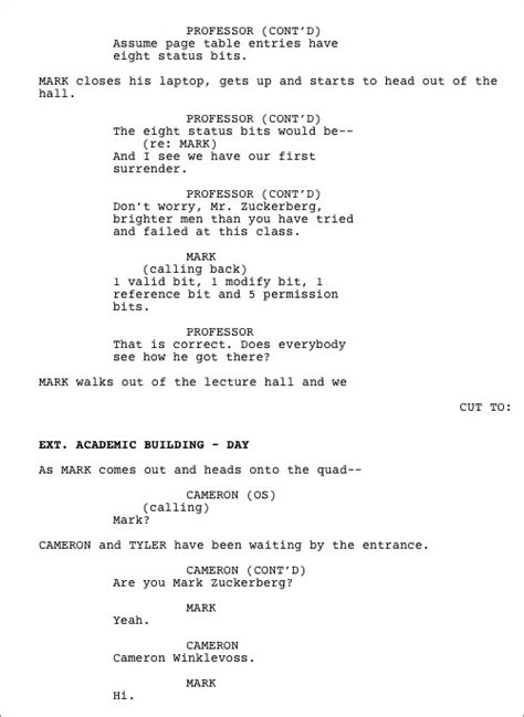 screenplay format template screenplay exle pictures to pin on pinsdaddy