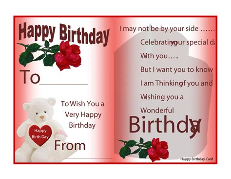 templates for birthday cards 40 free birthday card templates template lab