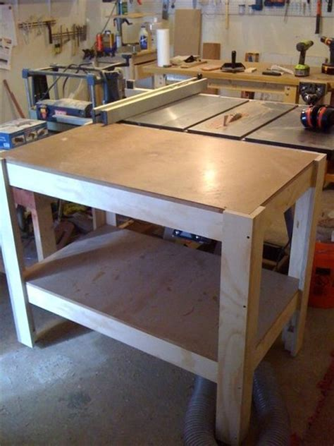 table saw outfeed table by jayman7 lumberjocks com
