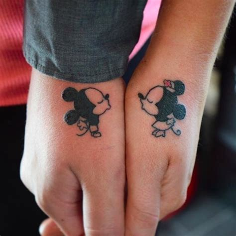 tattoo couple disney image gallery husband wife tattoo disney
