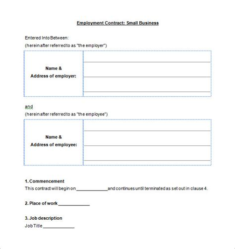 Business Contract Template by Business Contract Template 10 Free Word Pdf Documents