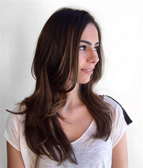hairstyles long brunette layers 30 best hairstyles for long straight hair 2018