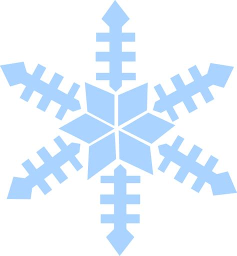 clipart neve blue snowflake clip at clker vector clip