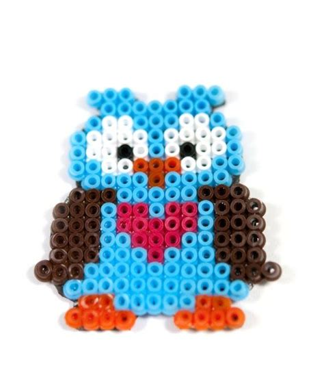 pony bead owl pattern so hama pearls pony perler