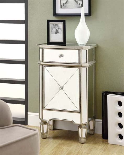 mirrored accent cabinet monarch specialties mirrored 1 drawer accent cabinet i