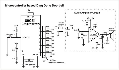 microcontroller based projects with circuit diagram microcontroller based ding dong bell circuit diagram diy