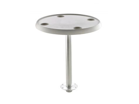 Boat Table With Pedestal Fixed Height Round Or Oval Boat Table Pedestal