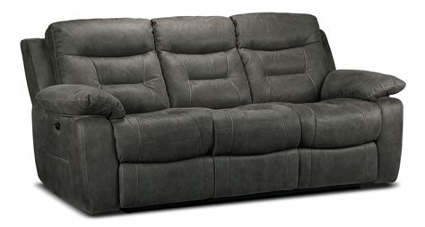 gray reclining sofa collins power reclining sofa charcoal grey leon s
