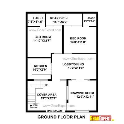 Gaj Into Square Feet by House Plan For 31 Feet By 43 Feet Plot Plot Size 148
