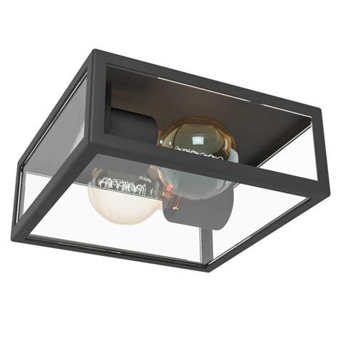 aplique de techo aplique plafon de techo alamonte acero galvanizado negro