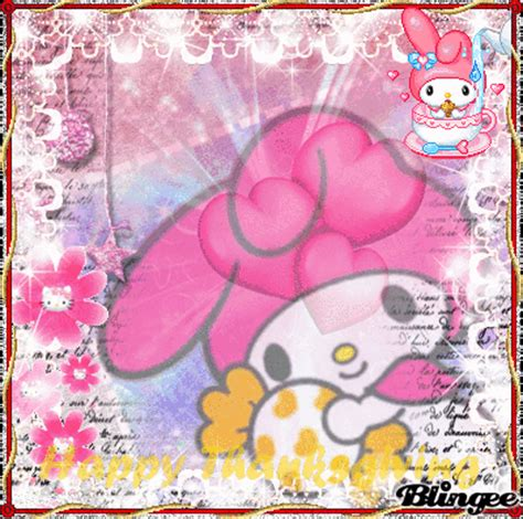 Goodie Bag Busur Kombinasi My Melody 5 happy thanksgiving my melody picture 131223341 blingee
