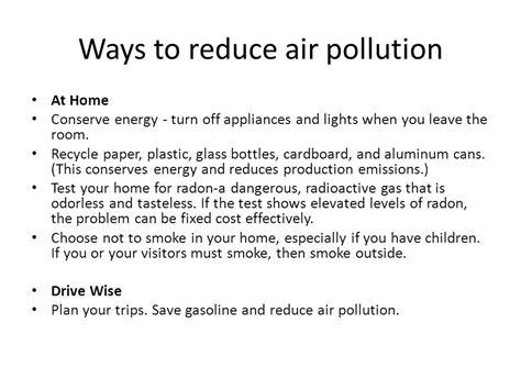 Ways To Avoid Air Quality Griselda Sagastume Cobble Hill High School Ppt