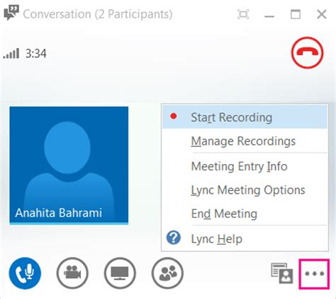 record and play back a lync meeting office support