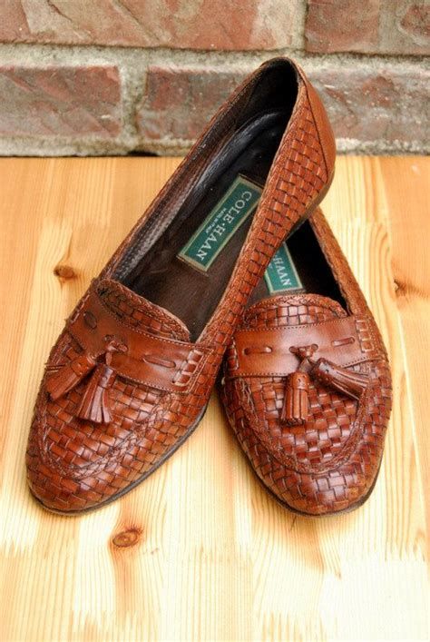 Sepatu Cole Haan vintage leather and italian leather on