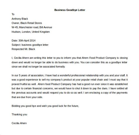 Editable Business Letter Template business letter template 44 free word pdf documents