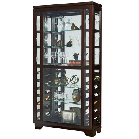 sliding door curio cabinet amazon com pulaski sliding front wine curio cabinet