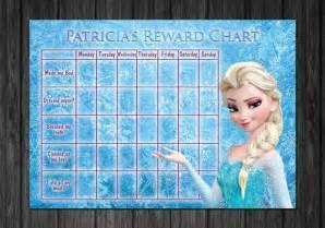 Disney frozen kids rewards chart chart for toilet training potty