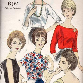 boat neck blouse drawing best vintage vogue dress patterns products on wanelo