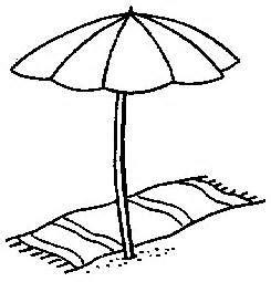 sun umbrella coloring page drawn beach sun umbrella pencil and in color drawn beach