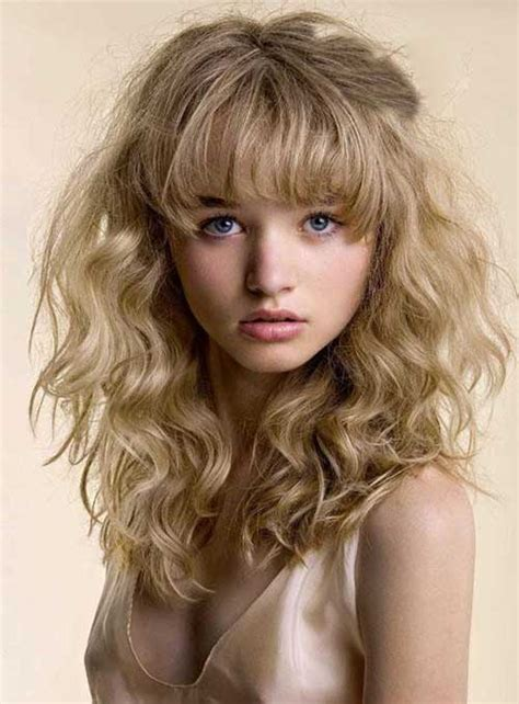 hairstyles curly hair bangs 30 hairstyles for curly hair with bangs long hairstyles
