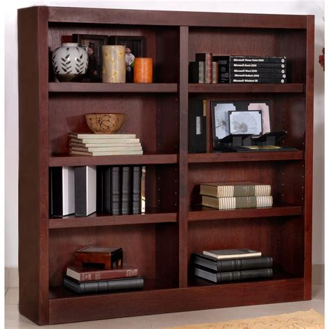 concepts in wood wide 8 shelf bookcase 206544