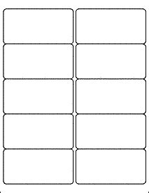 Avery Labels 2x4 Template by