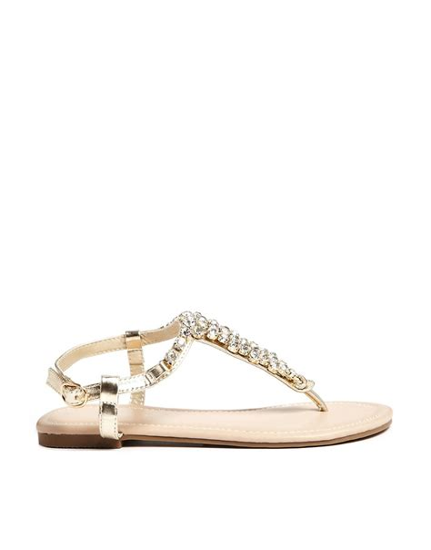 gold bling sandals new look new look fossil gold bling flat sandals