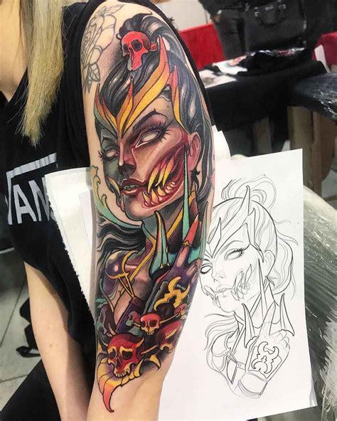 traditional tattoo artists artist isnard barbosa dublin ireland