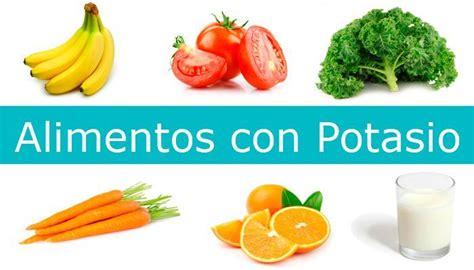 listado de alimentos ricos en potasio alimentosricoseninfo