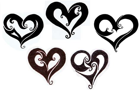 tribal heart tattoos with names tribal tattoos designs