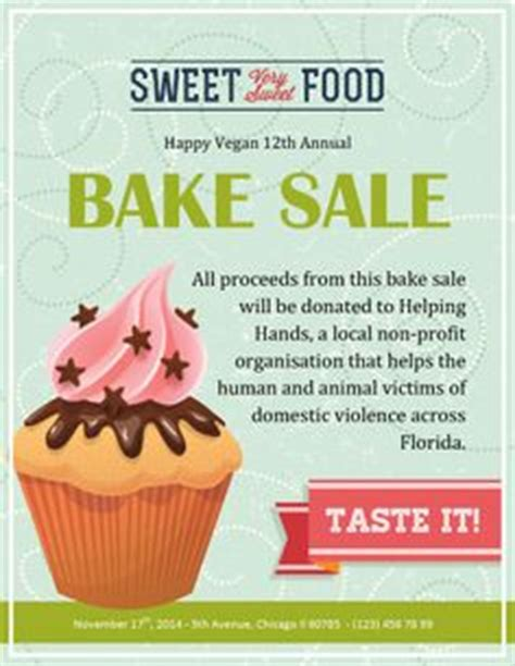 baking templates ideas flyers and fundraisers on